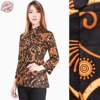 SB Collection Atasan Blouse Zasqia Kemeja Lengan Panjang Batik Wanita
