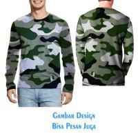 T-shirt Tangan Panjang Pria CAMO ARMY3 Jaman Now kikinian Fullprint