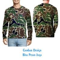 T-shirt Pria Tangan Panjang CAMO ARMY2 Jaman Now tuk kikinian