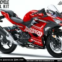 Decal Ninja 250R 2018 Motif Ducati 2019