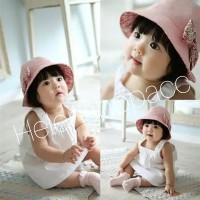 Topi baby perempuan import 6m - 3thn