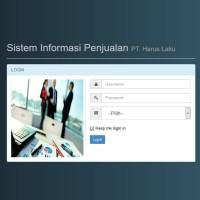 Program Aplikasi Penjualan berbasis web + perhitungan Komisi sales