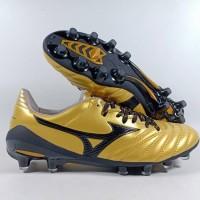 Sepatu Bola Mizuno Morelia Neo II Gold Black FG