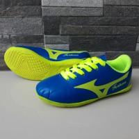 Sepatu Futsal Anak Mizuno Fortuna Biru Hijau Import Sport