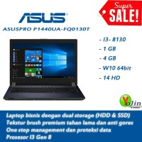 LAPTOP ASUS I3-8130 W10 64 BIT 1TB 4GB 14 W10 Fingerprint TERMURAH