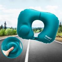 AVCX Romix Bantal Leher Travel Inflatable Neck Pillow - RH34 - Blue