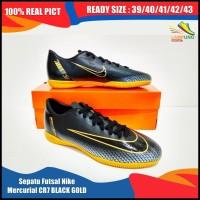 Terbaik Sepatu Futsal Nike Mercurial Cr7 Black Gold