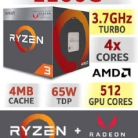 AMD RYZEN 3 - 2200G PROCESSOR CPU