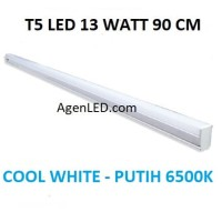 Lampu TL Neon T5 LED 13W 90cm Tube 90 cm 13 w watt WHITE PUTIH 14 15