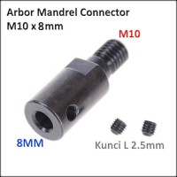 Konektor Arbor Gerinda Dinamo Mandrel Connector Adapter M10 x 8mm