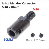 Konektor Arbor Gerinda Dinamo Mandrel Connector Adapter M10 x 10mm