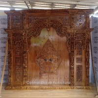 Kusen & Pintu Rumah Gebyok Jawa Ukiran Wayang Kayu Jati Ukir Jepara