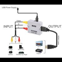 CONVERTER AV2HDMI RCA input ke HDMI output av 2 hdmi konverter perubah