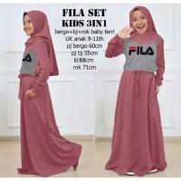 Baju Anak Maxi Anak Baju Muslim Anak Fila Set Kids