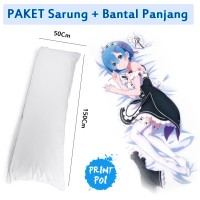 PAKET Bantal Panjang Custom Desain Waifu Suka - Suka PRINTPOI - ANIME