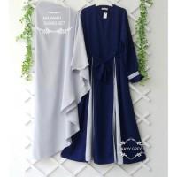 Marwah Gamis Set Hijab Baju Muslim Original Gamis Syari Casual