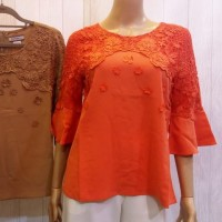 Sister Sifon Halus 23553 Size (M - 5XL) Baju Blouse Atasan Hongkong