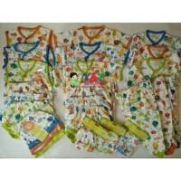 Paket newborn merk velvet baju bayi setelan topi celana kaos
