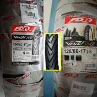 Paket Ban Motor FDR Genzi Pro 100-80-17 & 120-80-17 Ring 17 Tubeless