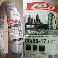 Paket Ban Motor FDR Genzi Pro 70/80-17 & 80/80-17 Ring 17 Tubeless