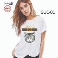 Baju Kaos Putih Anak Laki-laki / Perempuan Design Gucci