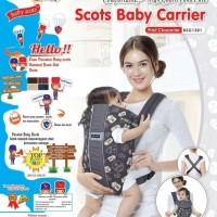gendongan bayi Baby Scots Depan Print Bsg 3101