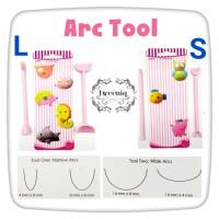 Arc Tools L S alat dekorasi fondant clay icing bentuk senyum lengkung