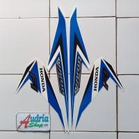 Striping Stiker Motor Honda Vario Techno Iss 125 2015 Full Putih-Biru