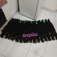 rambut sambung 65cm isi 100 helai agak tebal hair extension asli