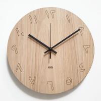 Jam Dinding Unik Artistik - Maple Angka Arab Wall Clock
