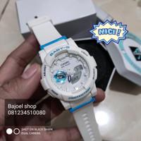 Casio Baby G BGA-185 / bga185 / BA185 / BA-185 white lis blue ori bm