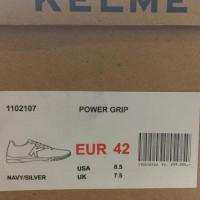 Special Product Sepatu Futsal Kelme Original Power Grip Navy Silver