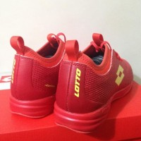 Special Product Sepatu Futsal Lotto Spark In Solar Red Yellow