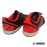 Special Product Sepatu Futsal Specs Horus - Black/Orange (100%