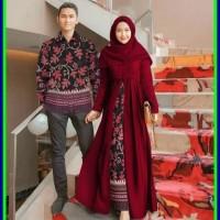 batik couple baju pesta sarimbit gamis kebaya couple muslim Sarwendah