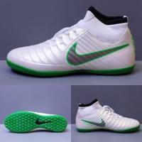sepatu olahraga futsal bola nike tiempo boot putih hijau cowok men