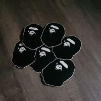 Bape sticker black and white