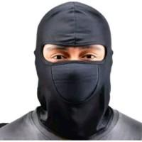 Balaclava masker motor full face black buff/ baff Ninja penutup muka