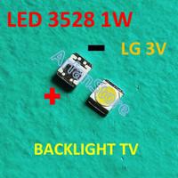 LED SMD 3528 LG 1W Backlight TV LCD Cold White 2835 Korea Putih Terang