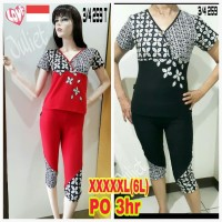 Baju Olahraga/senam big size XXXXXL (6L) 3/4 259T batik
