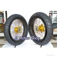Sepaket Velg Super Moto SuperMoto Honda CRF 150 Ban IRC Exato / Rx 01
