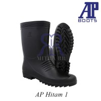 AP Boots Hitam 1 - Sepatu Boot Pendek Karet Unisex (Pria dan Wanita)