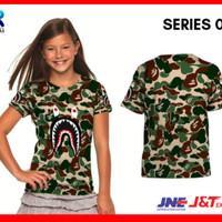 PROMO!!! Kaos / Baju / T shirt Anak Anak Bape Shark Face Army