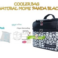 PMS102 COOLER BAG NATURAL MOMS PANDA BLACK TAS PENYIMPAN ASI