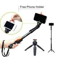 Tongsis Selfie Bluetooth Remote Monopod Panjang, TripodHolder Berdiri