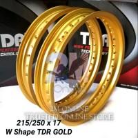 VELG TDR W SHAPE GOLD SET UKURAN 215 250 RING 17