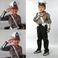 Baju polisi anak setelan komplit / seragam polisi anak