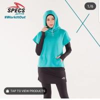 baju atasan olahraga gym wanita muslimah Rue hoodie specs original
