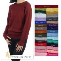baju rajut wanita Roundhand sweater rajut korea atasan wanita Rajutan
