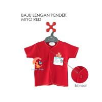 MIYO RED Baju Bayi Lengan Pendek 3-6 Bulan